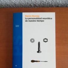 Libros de segunda mano: LA PERSONALIDAD NEURÓTICA DE NUESTRO TIEMPO - KAREN HORNEY - PSICOANÁLISIS PSICOLOGÍA. Lote 211511259