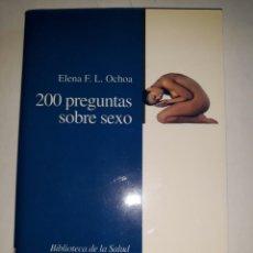 Libros de segunda mano: 200 PREGUNTAS SOBRE SEXO ANATOMÍA RESPUESTA CONDUCTA SEXUAL MASTURBACIÓN ESTÍMULOS DISFUNCIONES PARA. Lote 202345152