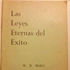 Libros de segunda mano: LAS LEYES ETERNAS DEL EXITO. Lote 205273890