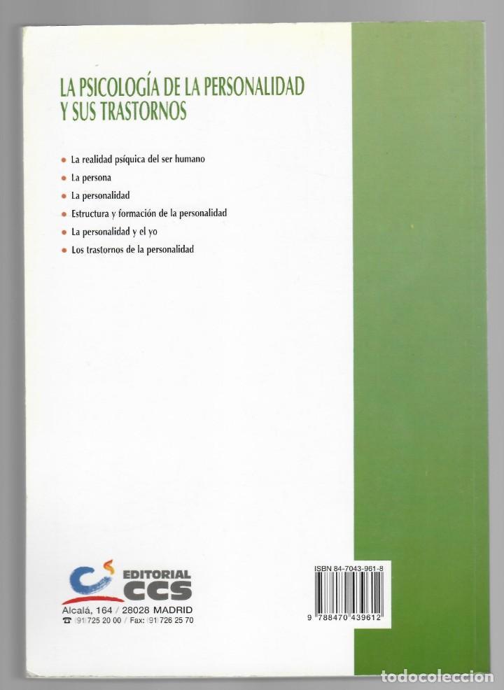 Libros de segunda mano: La Psicología de la personalidad y sus trastornos - Guillermo Quintana - Foto 2 - 205809447