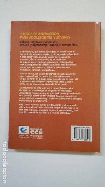Libros de segunda mano: Juegos de interacción para adolescentes y jóvenes 1. Vopel, Klaus W. Ed. CCS. TDK200 - Foto 2 - 206958678