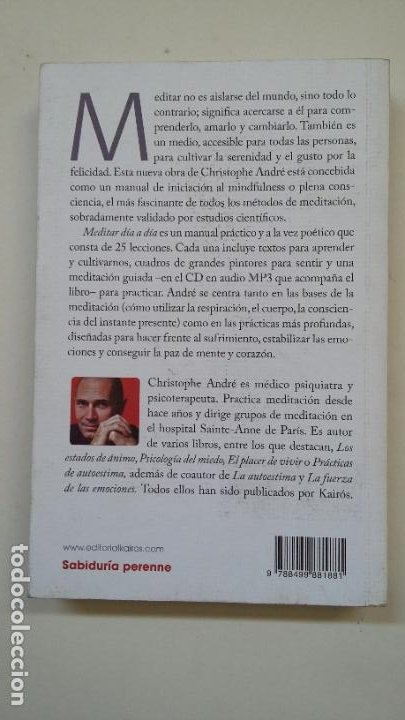 Libros de segunda mano: MEDITAR DIA A DIA. - CHRISTOPHE ANDRE. 25 LECCIONES PARA VIVIR CON MINDFULNESS. TDK199 - Foto 2 - 206972396