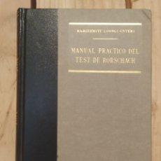Libros de segunda mano: MANUAL PRÁCTICO DEL TEST DE RORSCHACH. Lote 207192220
