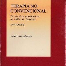 Livros em segunda mão: * PSICOTERAPIA * HIPNOSIS * MILTON H. ERICKSON * TERAPIA NO CONVENCIONAL / JAY HALEY. Lote 207835602