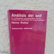 Libros de segunda mano: ANALISIS DEL SELF. HEINZ KOHUT. AMORRORTU EDITORES. 1977.. Lote 209589500