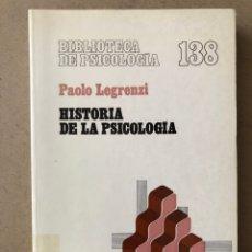 Libros de segunda mano: HISTORIA DE LA PSICOLOGÍA. PAOLO LEGRENZI. EDITORIAL HERDER 1986.. Lote 261252255