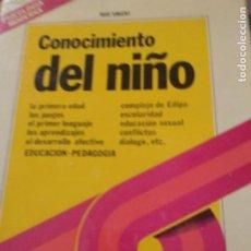 Libros de segunda mano: CONOCIMIENTO DEL NIÑO. ROSE VINCENT. LA PSICOLOGIA MODERNA.. Lote 210671222