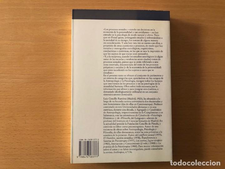 Libros de segunda mano: Sexo, comunicación y símbolo. Luis Cencillo. Editorial Anthropos. Textos y Temas de Psicología - Foto 2 - 210771599