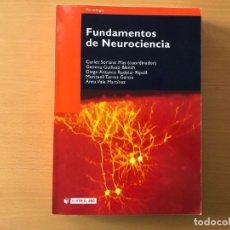 Libros de segunda mano: FUNDAMENTOS DE LA NEUROCIENCIA. CARLES SORIANO (COORD.). EDITORIAL UOC. Lote 210773106
