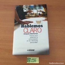 Libros de segunda mano: HABLEMOS CLARO. Lote 210804582