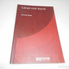 Libri di seconda mano: GERARDO MAESO LACAN CON JOYCE Q1941A. Lote 211776865