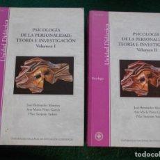 Libros de segunda mano: PSICOLOGIA DE LA PERSONALIDAD TEORIA DE LA INVESTIGACION 2 VOLUMENES UNIVERSIDAD A DISTANCIA. Lote 213756091