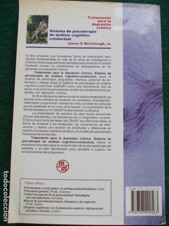 Libros de segunda mano: TRATAMIENTO PARA LA DEPRESIÓN CRONICA SISTEMA DE PSICOTERAPIA DE ANALISÍS CONDUCTUAL - Foto 2 - 288444078
