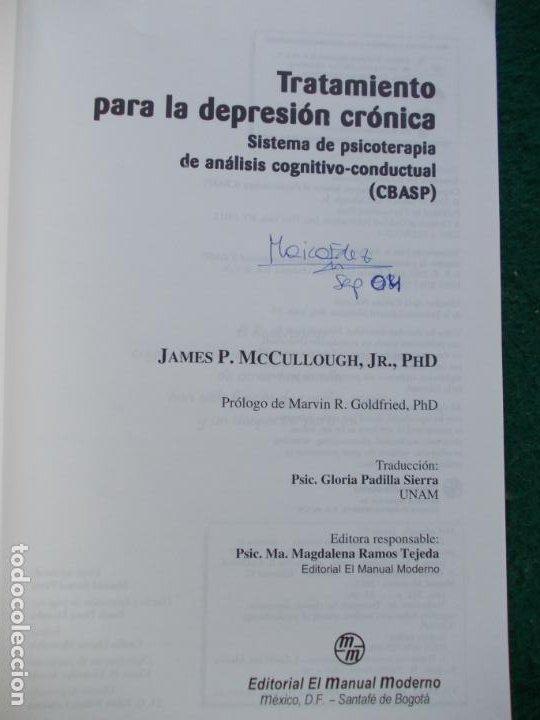 Libros de segunda mano: TRATAMIENTO PARA LA DEPRESIÓN CRONICA SISTEMA DE PSICOTERAPIA DE ANALISÍS CONDUCTUAL - Foto 3 - 288444078