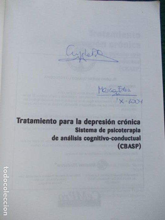 Libros de segunda mano: TRATAMIENTO PARA LA DEPRESIÓN CRONICA SISTEMA DE PSICOTERAPIA DE ANALISÍS CONDUCTUAL - Foto 4 - 288444078