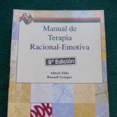 Libros de segunda mano: MANUAL DE TERAPIA RACIONAL-EMOTIVA. Lote 213760502