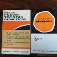 Libros de segunda mano: PSICOLOGÍA - A.WELLEK. 1969 / NUEVAS TÉCNICAS DIDÁCTICAS. BRUNO CIARI. 1967. Lote 214023362
