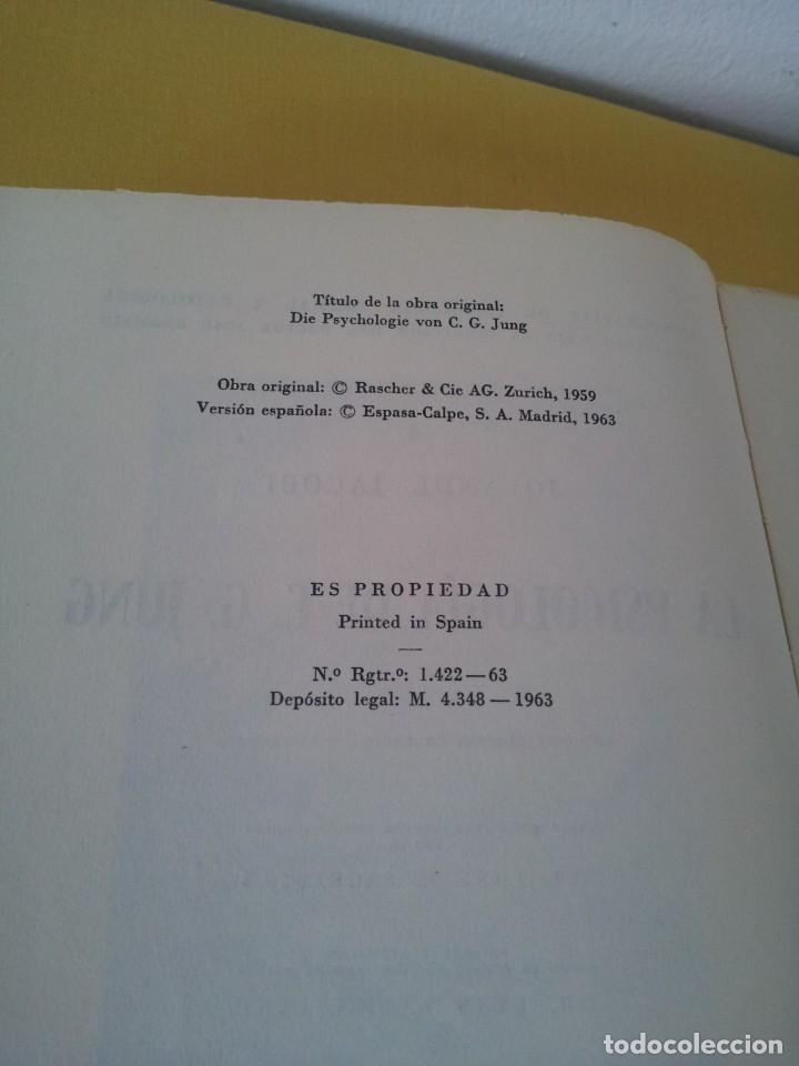 Libros de segunda mano: JOLANDE JACOBI - LA PSICOLOGIA DE C. G. JUNG - ESPASA CALPE,SEGUNDA EDICIÓN CORREGIDA Y AUMENTA 1963 - Foto 3 - 214401282