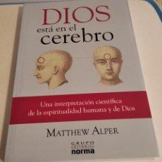 Libros de segunda mano: DIOS ESTÁ EN EL CEREBRO. MATTHEW ALPER. Lote 216500790