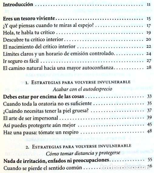 Libros de segunda mano: ASÍ SERÉ INVULNERABLE SEIS ESTRATEGIAS PARA AFRONTAR LAS CRÍTICAS - BARBARA BERCKHAN 2010 VER INDICE - Foto 3 - 216545941