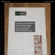 Libros de segunda mano: LECTURAS DE HISTORIA DE LA PSICOLOGÍA. ALEJANDRA FERRANDIZ. Lote 221011028