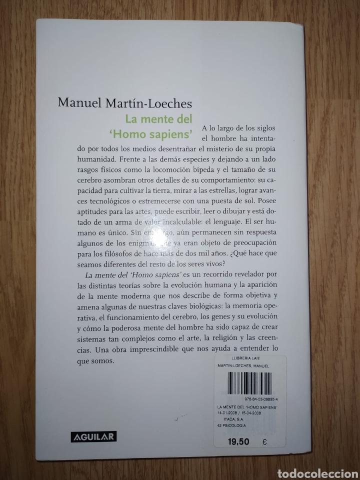 Libros de segunda mano: Manuel Martín-Loeches. La mente del homo sapiens - Foto 2 - 221168445