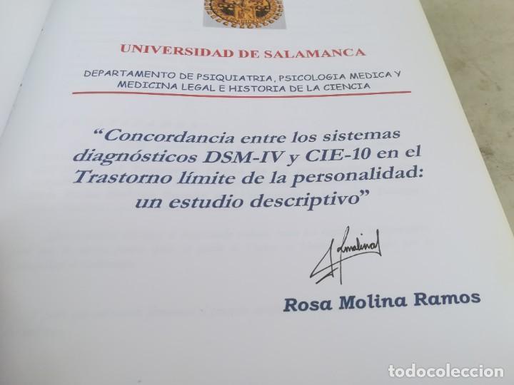 Libros de segunda mano: CONCORDANCIA SISTEMAS DIAGNOSTICOS DSM-IV Y CIE-10 UNIVERSIDAD SALAMANCA / ESQ702 / PSIQUIATRIA - Foto 5 - 221328081