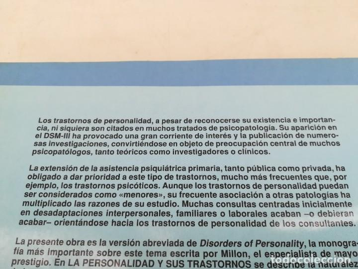 Libros de segunda mano: LA PERSONALIDAD Y SUS TRASTORNOS - THEODORE MILLON / GEORGE S EVERLY / ESQ704 / PSIQUIATRIA - Foto 3 - 221328872