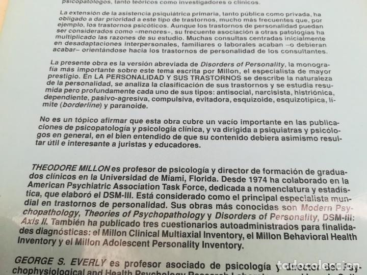 Libros de segunda mano: LA PERSONALIDAD Y SUS TRASTORNOS - THEODORE MILLON / GEORGE S EVERLY / ESQ704 / PSIQUIATRIA - Foto 4 - 221328872