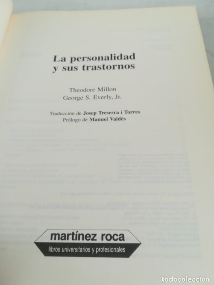 Libros de segunda mano: LA PERSONALIDAD Y SUS TRASTORNOS - THEODORE MILLON / GEORGE S EVERLY / ESQ704 / PSIQUIATRIA - Foto 6 - 221328872