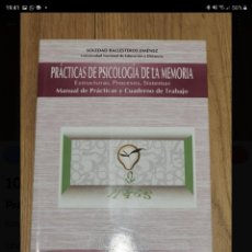 Libros de segunda mano: PRACTICAS DE PSICOLOGÍA DE LA MEMORIA. SOLEDAD BALLESTEROS.. Lote 221630541