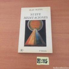 Libros de segunda mano: NUEVE MEDITACIONES. Lote 221686567
