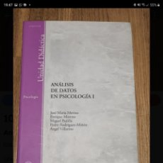 Libros de segunda mano: ANÁLISIS DE DATOS EN PSICOLOGÍA I. JOSE MARIA MERINO.. Lote 221859218