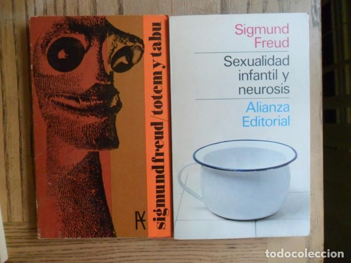 LOTE DE DOS LIBROS DE SIGMUND FREUD. 'TOTEM Y TABÚ' Y 'SEXUALIDAD INFANTIL'. ALIANZA (Libros de Segunda Mano - Pensamiento - Psicología)