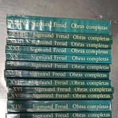 Libros de segunda mano: SIGMUND FREUD: OBRAS COMPLETAS, 24 TOMOS, EDITORIAL AMORRORTU, DIFERENTES AÑOS. VER DESCRIPCIÓN.. Lote 222427568