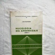 Libros de segunda mano: PSICOLOGIA DEL APRENDIZAJE TOMO I DE JAVIER VIEJO MONTOLIO. Lote 222827217