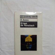 Libros de segunda mano: EL TEST DE RORSCHACH DE E. BOHM. Lote 223012588