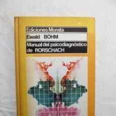 Libros de segunda mano: MANUAL DEL PSICODIAGNOSTICO DE RORSCHACH DE EWALD BOHM. Lote 223022473