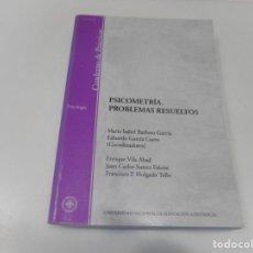 Libros de segunda mano: VV.AA PSICOMETRÍA. PROBLEMAS RESUELTOS Q3442T. Lote 223219361