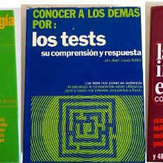 Libros de segunda mano: LOTE 3 LIBROS PSICOLOGÍA INICIACIÓN A LA PSICOLOGÍA CONOCER A LOS DEMÁS TESTS LA INTELIGENCIA EFICAZ. Lote 223225557