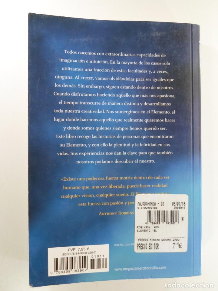 Libros de segunda mano: EL ELEMENTO ROBINSON, KEN - Foto 2 - 223796128