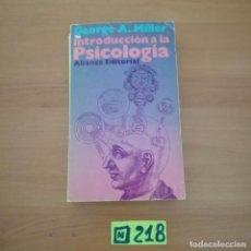 Libros de segunda mano: INTRODUCCIÓN A LA PSICOLOGÍA. Lote 234350505