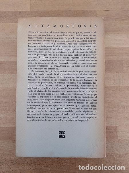 Libros de segunda mano: Metamorfosis. El desarrollo humano y la psicología de la creatividad - Ernest G. Schachtel - Foto 2 - 234903665