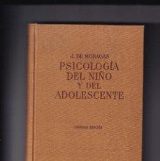 Libros de segunda mano: JERONI MORAGAS - PSICOLOGÍA DEL NIÑO Y DEL ADOLESCENTE - FIRMADO POR EL AUTOR - 1960. Lote 234971235