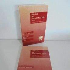 Libros de segunda mano: MANUAL DE PSICOPATOLOGIA. VOLUMEN I-II. AMPARO BELLOCH Y ELENA IBAÑEZ. EDITORIAL PROMOLIBRO. Lote 235169170