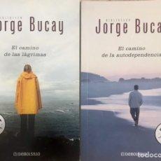 Libros de segunda mano: LOTE 2 LIBROS + DVD JORGE BUCAY EL CAMINO DE LAS LAGRIMAS Y AUTODEPENDECIA - DEBOLSILLO BESTSELLER. Lote 235604070