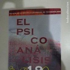 Libros de segunda mano: LOS HOMBRES Y SUS SEMBLANTES. REVISTA EL PSICOANÁLISIS. Nº 19 (ESCUELA LACANIANA). Lote 238505565