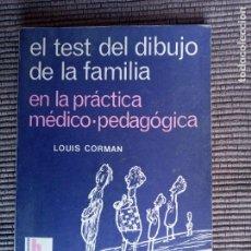 Libros de segunda mano: EL TEST DEL DIBUJO DE LA FAMILIA. LOUIS CORMAN. KAPELUSZ 1967.. Lote 242952290
