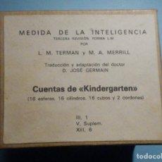 Libros de segunda mano: MEDIDA DE LA INTELIGENCIA - L.M TERMAN - M.A. MERRILL - CUENTAS DE KINDERGARDEN -. Lote 242989650