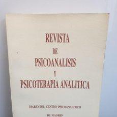 Libros de segunda mano: REVISTA DE PSICOANÁLISIS Y PSICOTERAPIA ANALÍTICA. AÑO 1999, VOL. V -NÚM. 1.. Lote 243583695